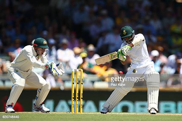 Temba Bavuma of South Africa bats during day one of the First Test match between Australia and South Africa at the WACA on November 3 2016 in Perth...