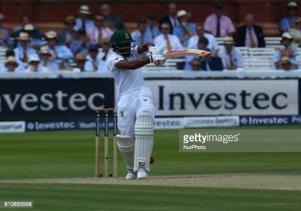 Temba Bavuma of South Africa during 1st Investec Test Match Day Three between England and South Africa at Lord's Cricket Ground in London on July 08...