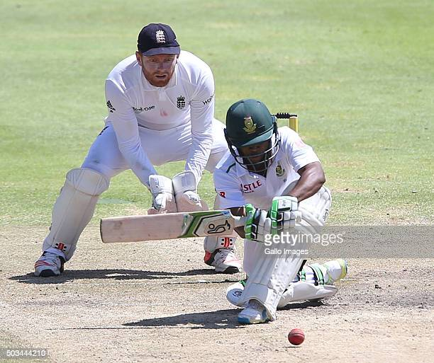 Temba Bavuma of South Africa during day 4 of the 2nd Test match between South Africa and England at PPC Newlands on January 05 2016 in Cape Town...