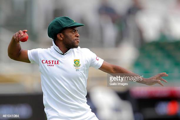 Temba Bavuma of South Africa during day 4 of the 3rd Test between South Africa and West Indies at Sahara Park Newlands on January 05 2015 in Cape...