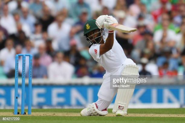 Temba Bavuma of South Africa during Day Three of the 3rd Investec Test match between England and South Africa at The Kia Oval on July 29 2017 in...