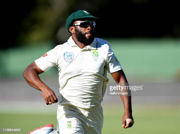 Temba Bavuma of South Africa fielding during day 1 of the 2nd Castle Lager Test match between South Africa and Sri Lanka at St George's Park on...