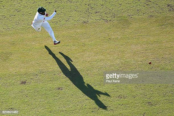 Temba Bavuma of South Africa fields the ball during day one of the First Test match between Australia and South Africa at the WACA on November 3 2016...