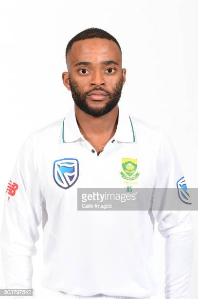 Temba Bavuma of the Proteas during the Proteas portrait shoot on May 13 2017 in Johannesburg South Africa