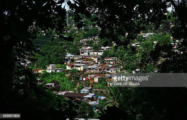 Tembe town in Freetown on August 13 2014 The World Health Organisation revealed that the latest death toll from the Ebola virus in Guinea Sierra...