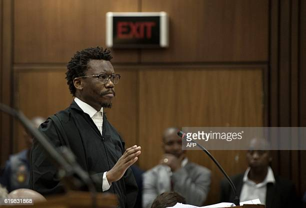 Tembeka Ngcukaitobi representing the Economic Freedom Fighters speaks during a hearing in the case of the public protector vs the President of the...