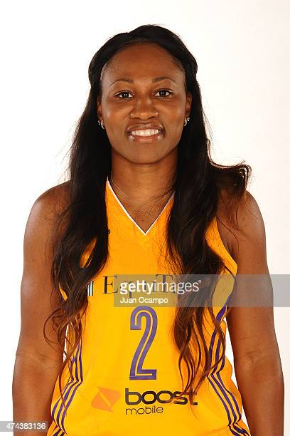 Temeka Johnson of the Los Angeles Sparks poses for a headshot during media day at Galen Center on May 21 2015 in Los Angeles California NOTE TO USER...