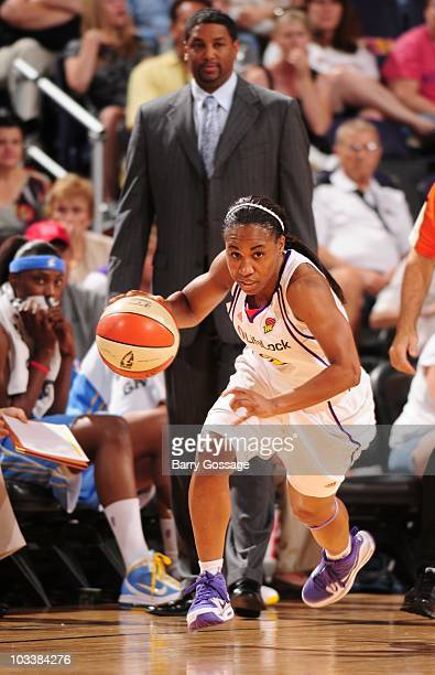 Temeka Johnson of the Phoenix Mercury during a game against the Chicago Sky on August 1 2010 at US Airways Center in Phoenix Arizona NOTE TO USER...