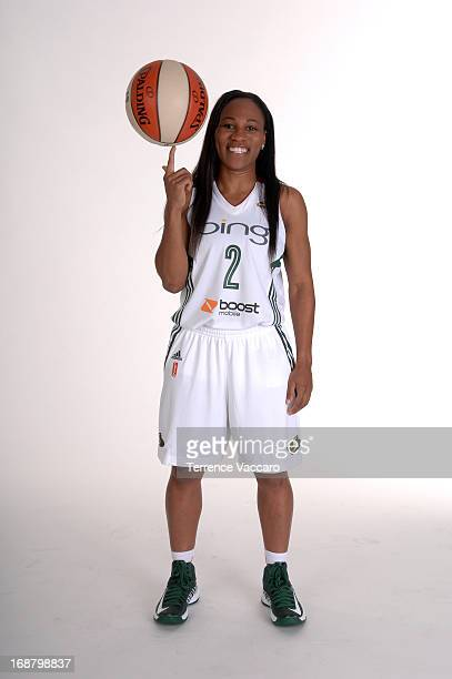 Temeka Johnson of the Seattle Storm poses for a photo during WNBA Media Day on May 14 2013 at Key Arena in Seattle Washington NOTE TO USER User...