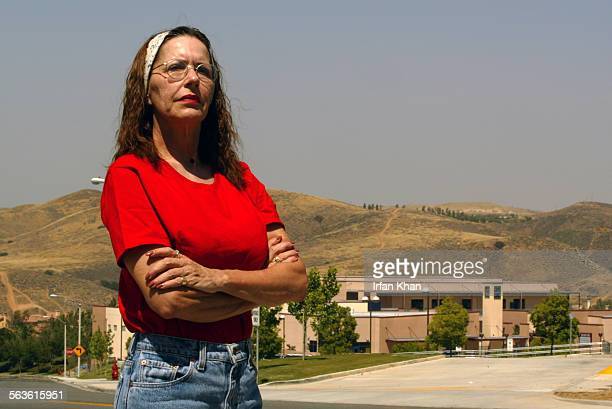 Temescal Valley May 13 2004 ––– Gena Osborne a longtime opponent of the nation's largest open air sludge processing plant She lives in California...