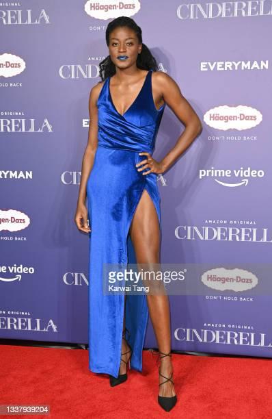 "Temi Fagbenle attends the ""Cinderella"" UK Partner Event at Everyman Broadgate on September 02, 2021 in London, England."