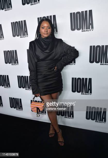 Temi Otedola attends UOMA Beauty Launch Event at NeueHouse Hollywood on April 25 2019 in Los Angeles California