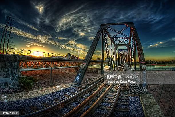 Tempe bridges at sunrise