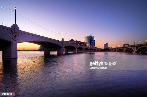 tempe town lake & mill ave bridges - テンペ ストックフォトと画像