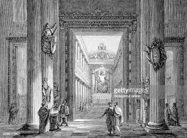 Tempel of Romulus at the Forum Romanum in ancient Rome Jupiter Stator Tempel the story of the ancient Rome roman Empire Italy