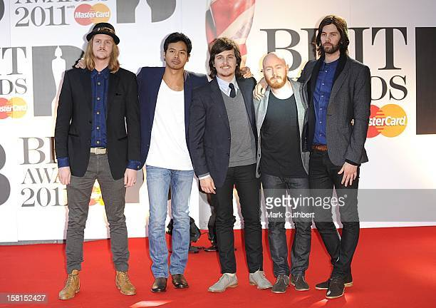 Temper Trap Arriving For The 2011 Brit Awards At The O2 Arena London