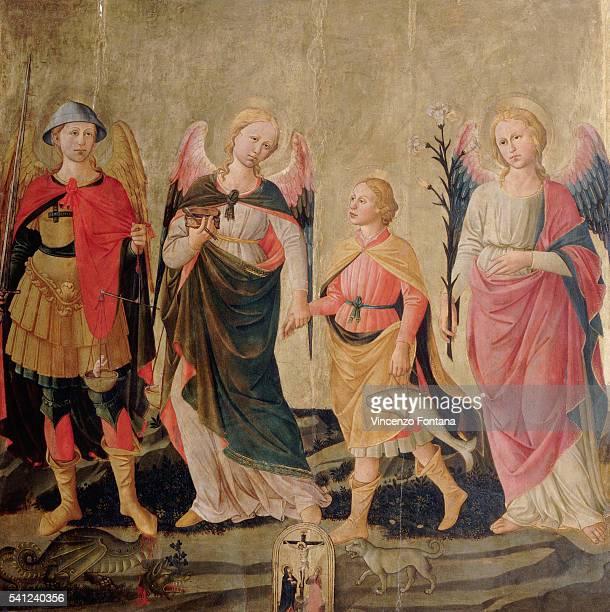Tempera on panel 14681475 Located in the Galleria dell'Accademia Florence Italy 66 15/16 x 66 15/16 inches | Located in Galleria dell'Accademia Venice