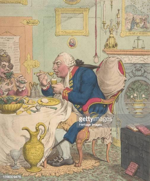 Temperance Enjoying a Frugal Meal, July 28, 1792. Artist James Gillray.