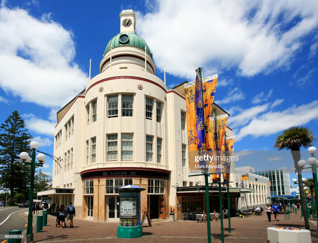Temperance & General building in Napier : Stock Photo