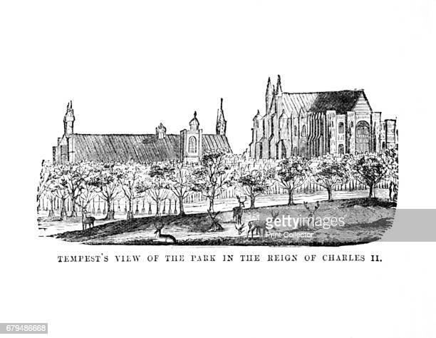 Tempest's View of the Park in the Reign of Charles II', c1870. Charles II was king of England, Scotland and Ireland. The Royal Parks of London are...