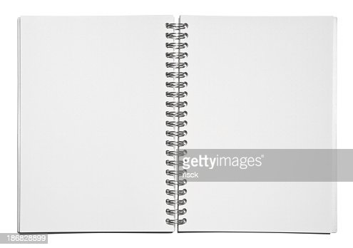 Template Of Blank Spiral Notebook Pages Stock Photo ...