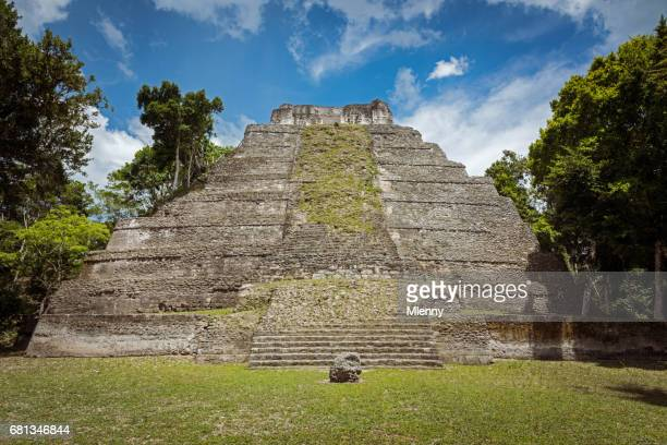 temple 216 yaxha east acropolis guatemala - ruined stock pictures, royalty-free photos & images