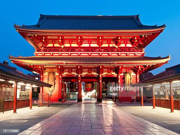 tempio di asakusa, tokyo - tempio foto e immagini stock