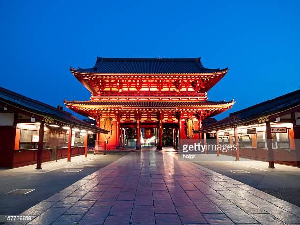 templo de asakusa, tóquio - templo - fotografias e filmes do acervo