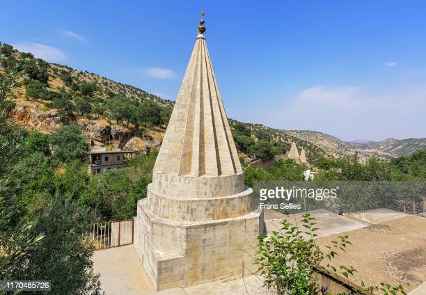 temple at lalish, the holy place for the yezidi people, iraqi kurdistan - ninawa stock pictures, royalty-free photos & images
