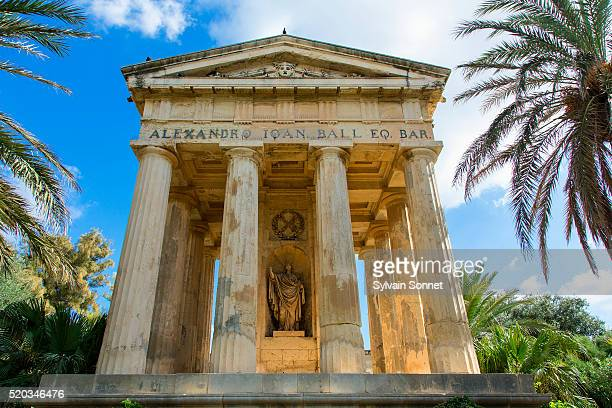 Temple at Lower Barraca Gardens, Valletta, Malta