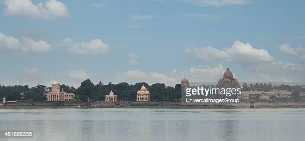 Temple at the waterfront Dakshineswar Kali Temple Hooghly River Kolkata West Bengal India