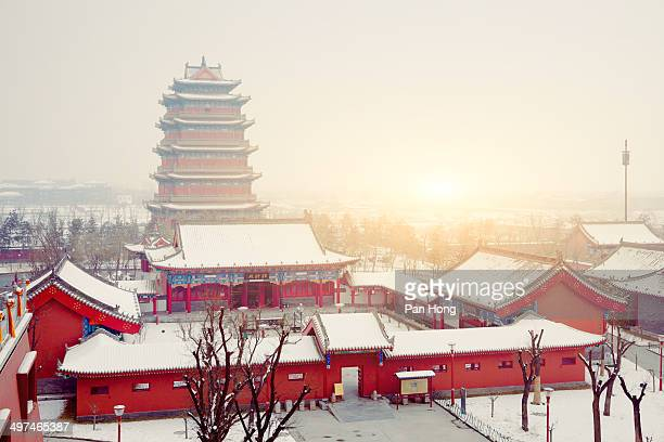 Temple at Xi'an in the winter, china