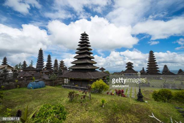 temple besakih at bali - balinese culture stock pictures, royalty-free photos & images