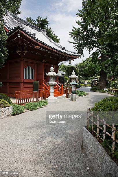 Temple buildings at the Senso ji Temple, Tokyo, Japan