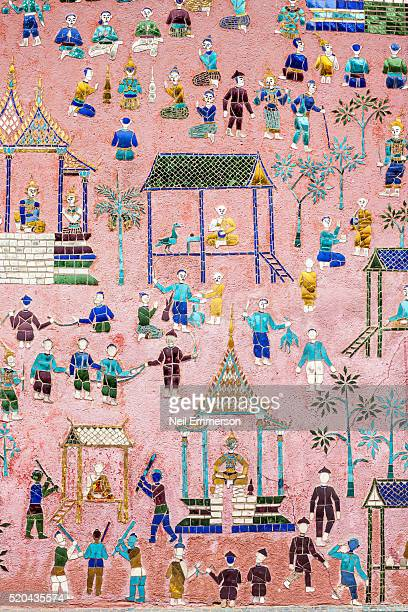 Temple decoration in Luang Prabang Laos