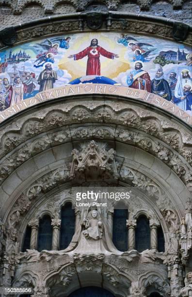 temple del sagrat cor, tibidabo. - sagrat cor stock pictures, royalty-free photos & images