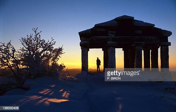 Temple Donon at sunset