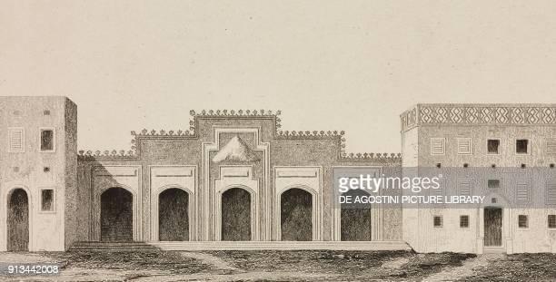 Temple gate called BabEstafa Arabia engraving by Fleury from Arabie by Noel Desvergers avec une carte de l'Arabie et note by Jomard L'Univers...