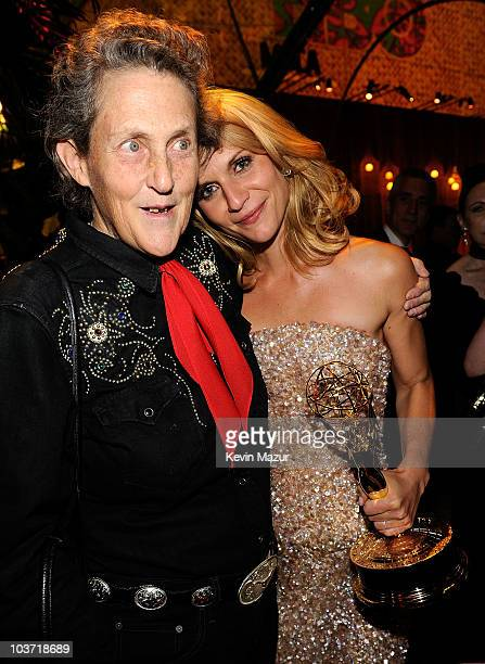 Temple Grandin and actress Claire Danes attend HBO after party for the 62nd Primetime Emmy Awards at Pacific Design Center on August 29 2010 in West...