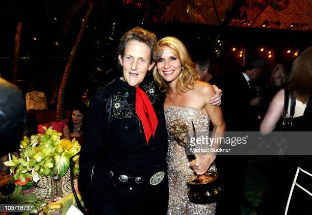 Temple Grandin and Claire Danes attend HBO's Annual Emmy Awards Post Award Reception at The Plaza at the Pacific Design Center on August 29 2010 in...