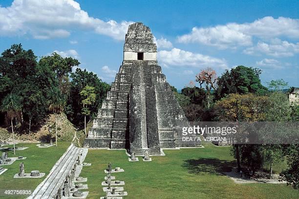 Temple I or Temple of the Great Jaguar Tikal archaeological site Tikal National Park El Peten Guatemala Mayan civilisation
