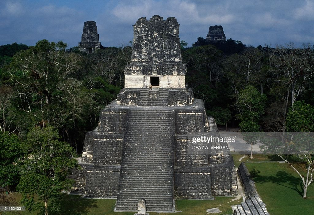 Temple II or Temple of Masks or Pyramid of Moon : News Photo