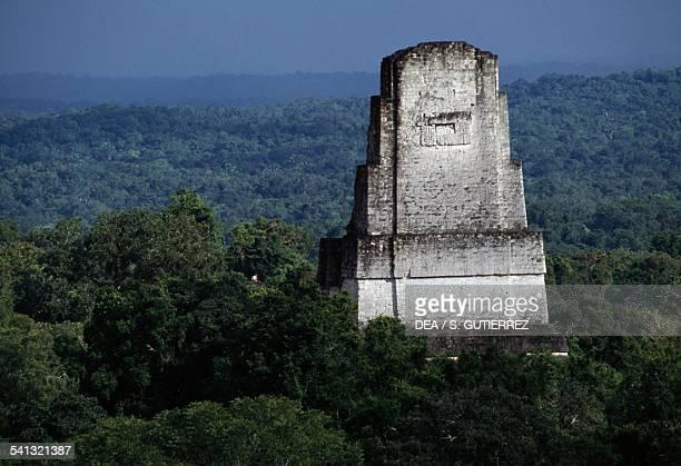 Temple III or Temple of the Priest Tikal archaeological site Tikal National Park El Peten Guatemala Mayan civilisation 9th century
