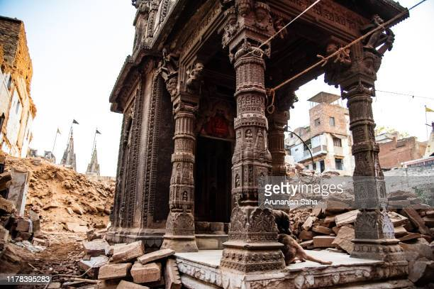 temple in debris - uttar pradesh stock pictures, royalty-free photos & images