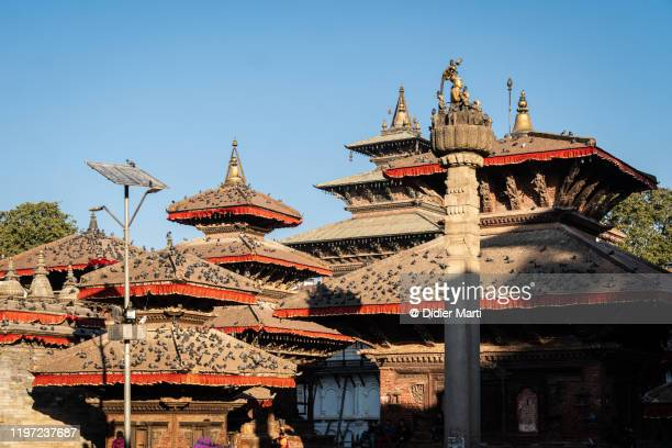 temple in kathmandu old town durbar square in nepal capital city - カトマンズ ダルバール広場 ストックフォトと画像