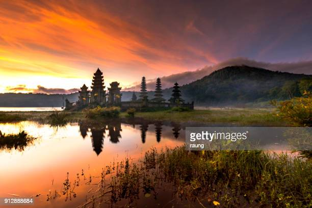 temple in the morning - indonesia stock photos and pictures