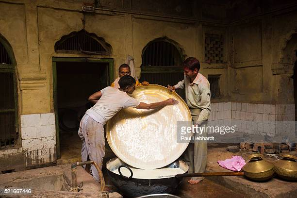 Temple Kitchen Workers During Holi