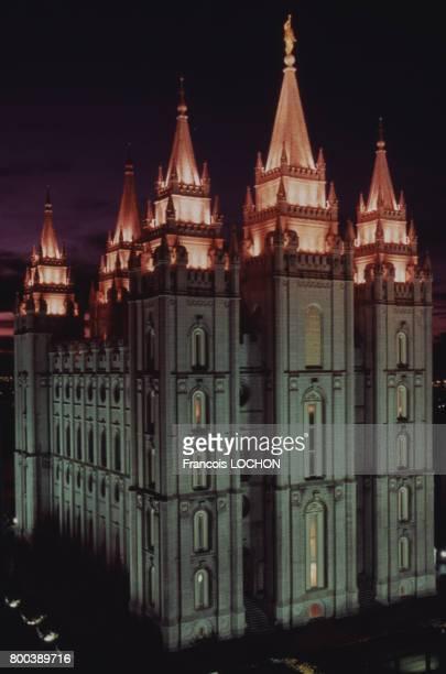 Temple mormon circa 1980 à Salt Lake City aux ÉtatsUnis