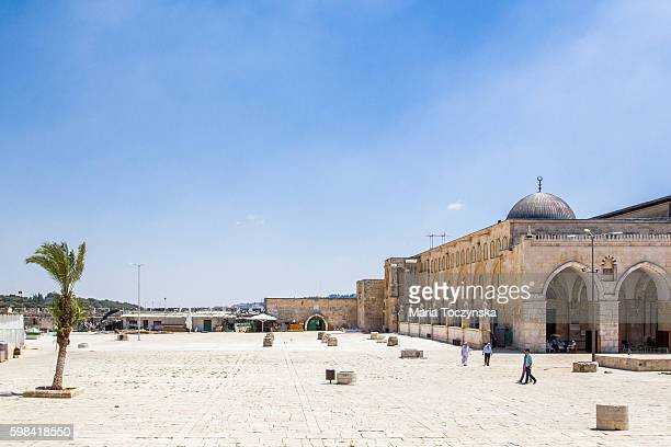 temple mount - al haram mosque stock photos and pictures