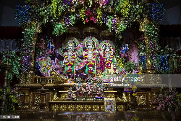 iskcon temple, new delhi - cngltrv1109 - lord krishna stock photos and pictures